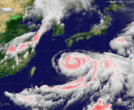 "Typhoon ""Muifa"" to Roll into Shanghai on August 7th"